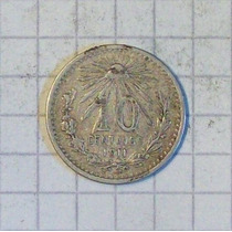 Mexico 10 Centavos Plata 1911