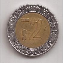Mexico Moneda Bimetalica 2 Pesos Año 2000