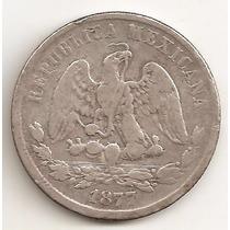 Mexico Republica, 50 Centavos, 1877 Guajanato. Plata. Vf-