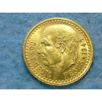 Mexico - 2 Y Medio Pesos 1945 - Moneda De Oro