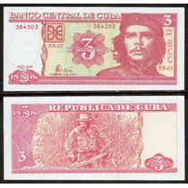 Cuba 2004 - Che Guevara - Billete De 3 Pesos Impecable !!