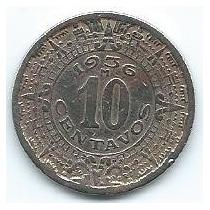 Moneda De México 10 Centavos 1936 Para Llevar Ya
