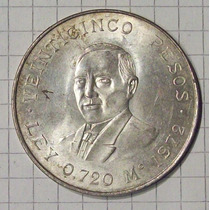 Mexico 25 Pesos Plata 1972 Muy Linda
