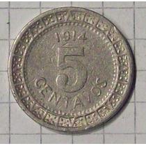 Mexico 5 Ctvos 1914 Linda Y Escasa