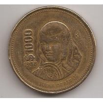 Mexico Moneda De 1000 Pesos Año 1988 !!