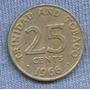 Trinidad Y Tobago 25 Cents 1966 *
