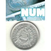 Guatemala Escasa Moneda 10 Centavos De Plata 1881 Km 204 Xf