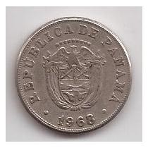 Panama Moneda De 5 Centesimos Año 1968 !!!
