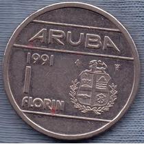 Aruba 1 Florin 1991 * Antillas Holandesas * Beatrix *