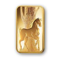 Robmar-lingote De Oro Suizo Caballo 5 G.sellada Certificada