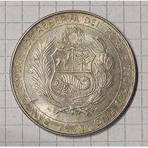 Perú 50 Soles De Oro Plata 1971 Excelente