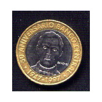 Dominicana, 5 Pesos Año 1997, Bimetalica,sin Circular