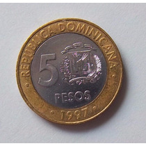 República Dominicana, 5 Pesos 1997 - Muy Bueno
