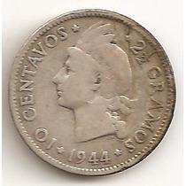 Republica Dominicana, 10 Centavos, 1941. Plata. Vf-