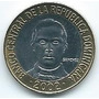 Moneda De La República Dominicana 5 Pesos 2002 S/circ