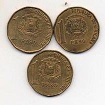 Rep.dominicana Lote 3 Monedas 1 Peso Mm 1324