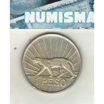 Uruguay Moneda De 1 Peso De Plata Año 1942 Km 30 Xf+++