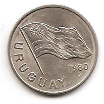 Moneda De Uruguay 5 Pesos Año 1980 Km#75