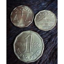 Lote 3 Monedas Uruguay 1976 - 77 - 78 - Nuevo Peso 50 C 20 C