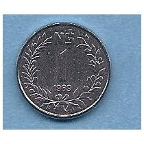 Uruguay, Moneda 1 Nuevo Peso 1989 - Km#95 - Tirada Corta, Sc