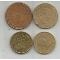 Uruguay Lote De 4 Monedas Actuales Una De 50 Pesos