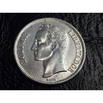 Moneda Venezuela Plata 1 Bolivar 1954 Ref L5 P20