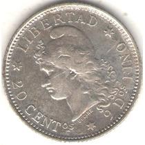 Argentina 20 Centavos De Patacon 1882 Exc+
