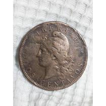 Moneda Argentina 2 Centavos 1884 Patacon Ref P 9- 5