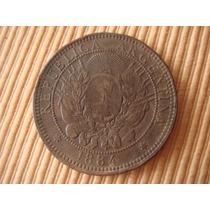 Argentina . 2 Ctvo De Patacón De Cobre 1884
