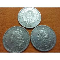 Moneda De 50 Cent. De Patacon 1883 Plata