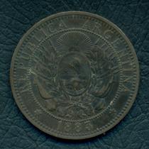 Moneda Argentina 1883 2 Centavos Cj#25
