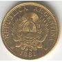Excasa Moneda De Oro Argentino 5 Pesos 1881 Argentina