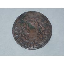 Moneda Argentina. 2 Reales 1860. Muy Antigua -rara..