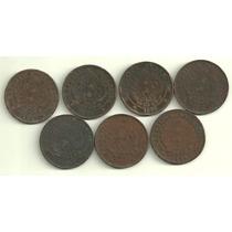 7 Cobres Dif. 2 Centavos Patacon Año 1884 A 1894 Buenas+