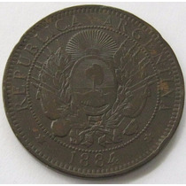 2 Centavos Patacon Del 1884 Argentina !