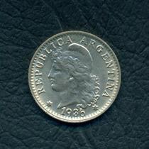 Moneda Argentina 1936 5 Centavos Cj#166