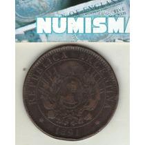 Argentina 2 Centavos De Patacon 1891 Cj#32 - Mb-