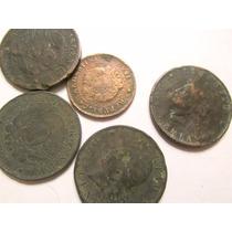 Antiguas Monedas Patacones Argentinos De Dos Centavos Cobre