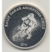 Argentina Plata 925. Dakar Cert. Un Peso Año 2010. Unc