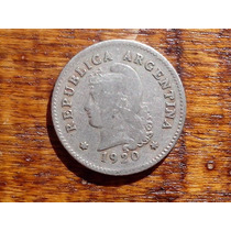 Moneda Antigua Argentina Año 1920 Niquel 10 Ctvos