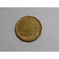 Moneda Argentina Mundial 78 100 Pesos Año 1978