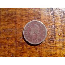 Moneda Antigua Argentina Año 1923, Niquel 10 Ctvos Roja
