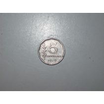 Moneda Antigua Argentina 5 Centavos 1970/1974