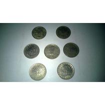 Lote De 7 Monedas 1 Peso Argentino Conmemorativa 1810 - 1960