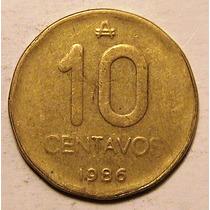 Moneda - 10 Centavos - Austral - Argentina - Año 1986