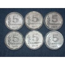 Serie Completa 5 Ctvos 1970 - 1975..