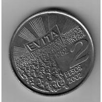 2 Pesos De Evita Moneda Conmemorativa Argentina !!!!!!!!!