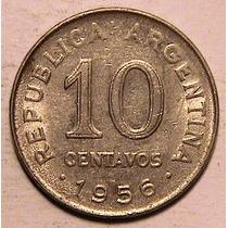 Moneda - 10 Centavos - Argentina - Año 1956