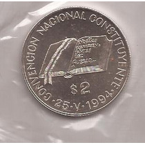 Moneda Plata 2 Pesos Constituyente 1994 12.5 Grs. Plata 900