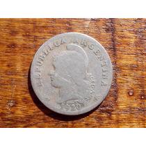 Moneda Antigua Argentina Año 1920 Niquel 20 Ctvos
